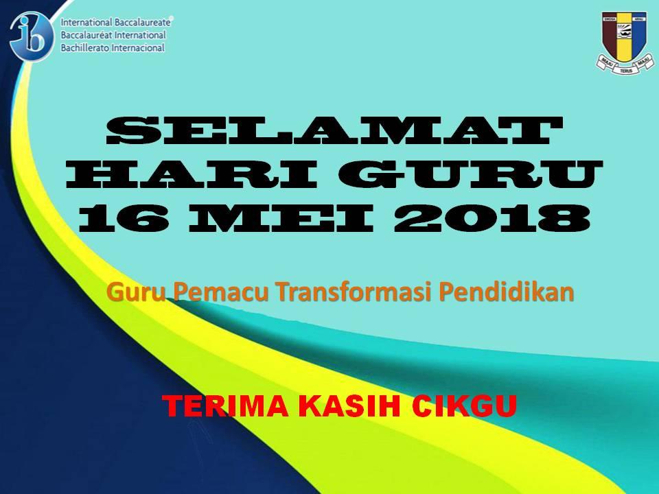 HARI GURU 16 MEI 2018