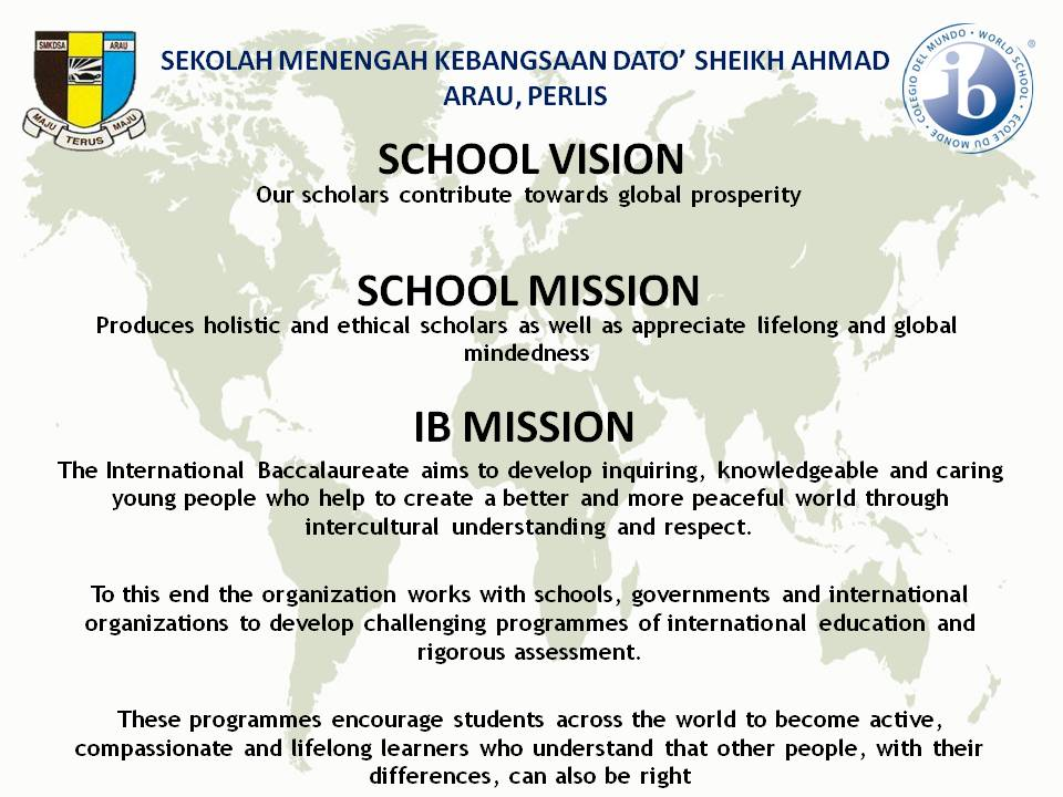 MISSION IB & mision vission SEK 2018
