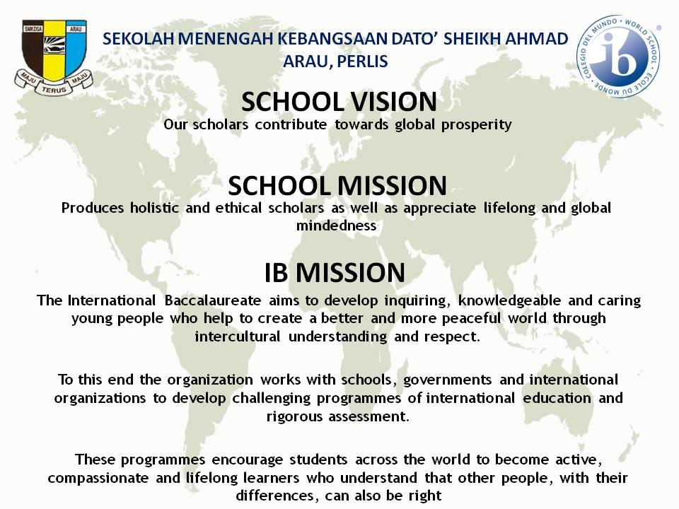 MISSION IB & mision vission SEK 2018